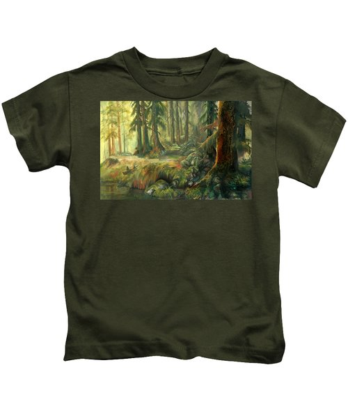 Enchanted Rain Forest Kids T-Shirt