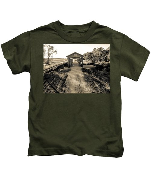 Engle Mill Covered Bridge Kids T-Shirt