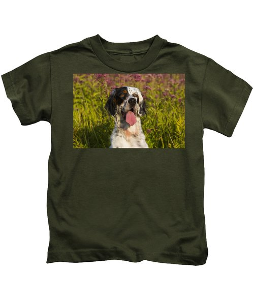 English Setter In Late Summer Kids T-Shirt