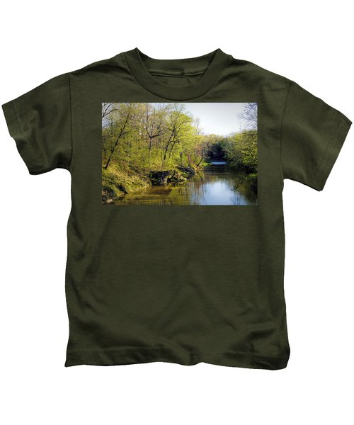 Evening Falls On Cedar Creek Kids T-Shirt
