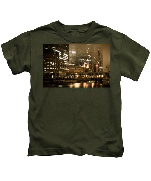 Evening In The Windy City Kids T-Shirt