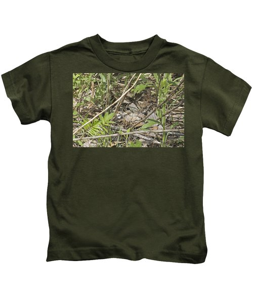 Eye-contact With The Nesting American Woodcock Kids T-Shirt