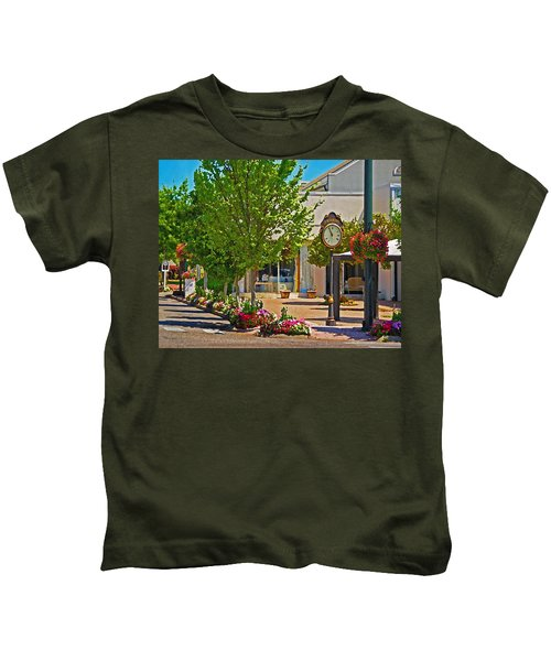 Fairhope Ave With Clock Looking North Up Section Street Kids T-Shirt
