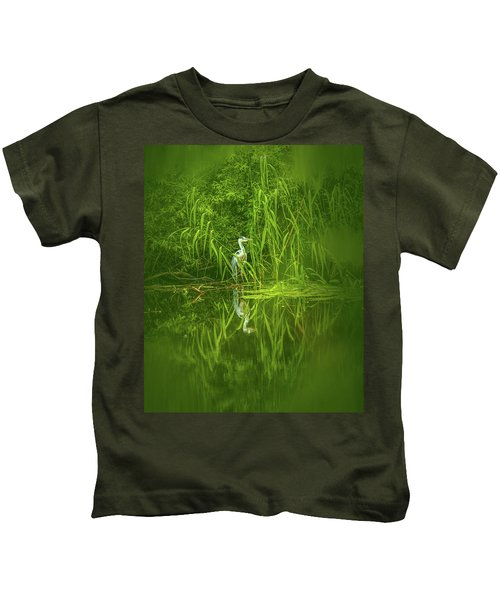 Fairy Tale Heron #g5 Kids T-Shirt