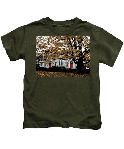 Fall At Church Kids T-Shirt
