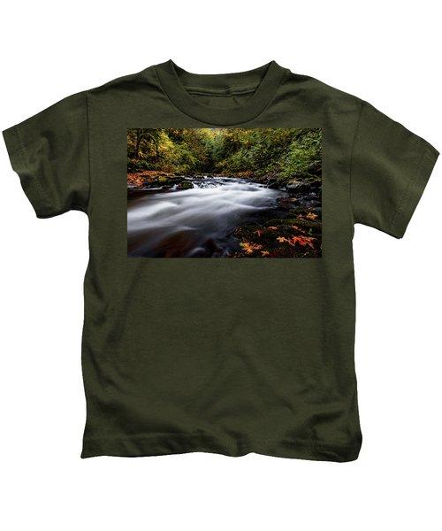 Fall Color At Cedar Creek Kids T-Shirt