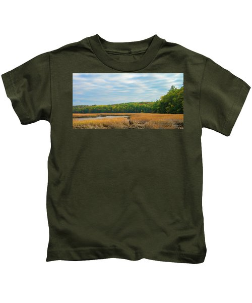 Fall Colors In Edgecomb Kids T-Shirt
