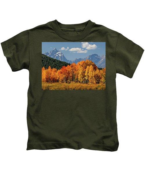 Fall In The Tetons Kids T-Shirt