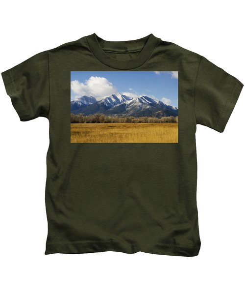 Fall Snow On Mount Princeton Kids T-Shirt