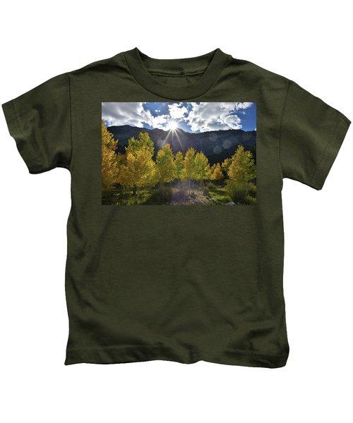 Fall Sun Setting Over Mt. Charleston Kids T-Shirt