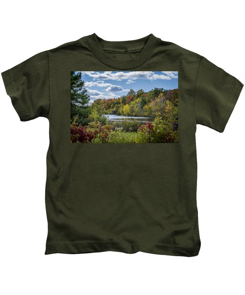 Fall Time On The Lake Kids T-Shirt
