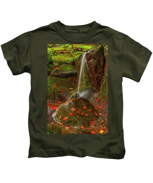 Falls In Seattle Japanese Garden Kids T-Shirt