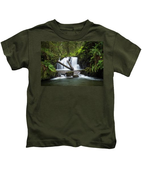 Falls On Canyon Creek Kids T-Shirt