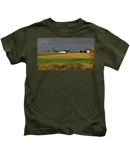Kids T-Shirt featuring the photograph Farm View by Jeremy Hayden