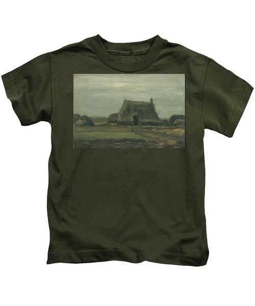 Farm With Stacks Of Peat November 1883 - 1883 Kids T-Shirt