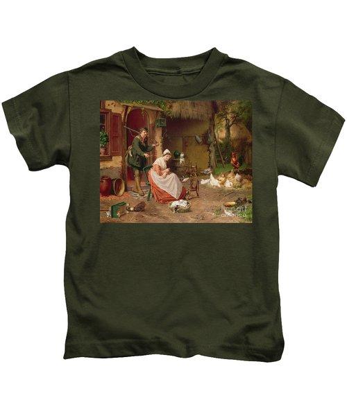 Farmyard Scene Kids T-Shirt