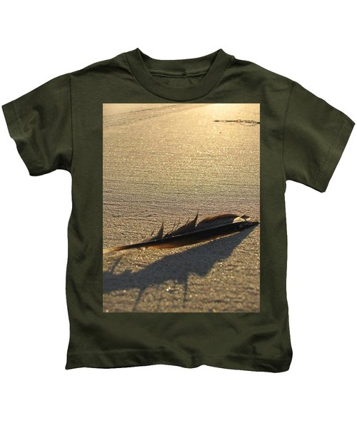 Feather In The Sand Kids T-Shirt