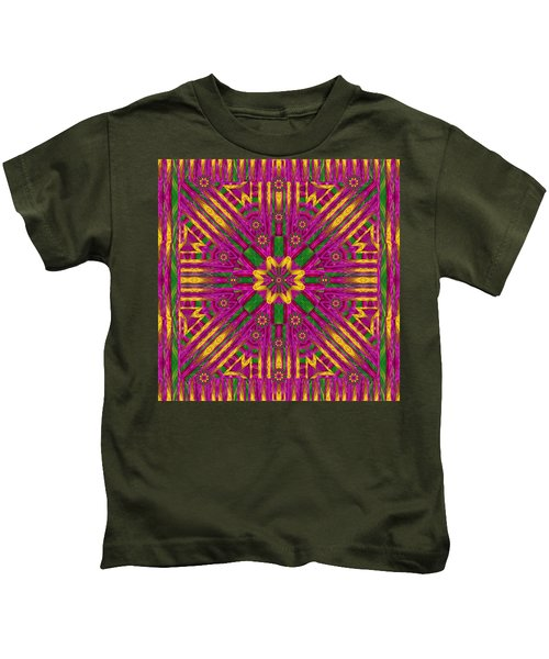 Feather Stars Mandala Pop Art Kids T-Shirt