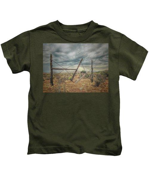 Fence Post Blues  Kids T-Shirt