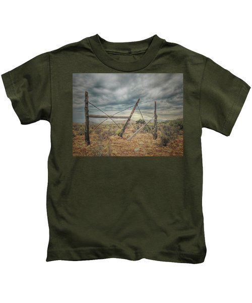 Fence Post Blues  Kids T-Shirt