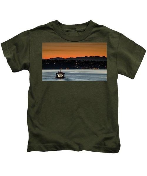 Ferry Sealth At Dawn Kids T-Shirt
