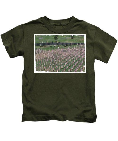 Field Of Flags - Gotg Arial Kids T-Shirt