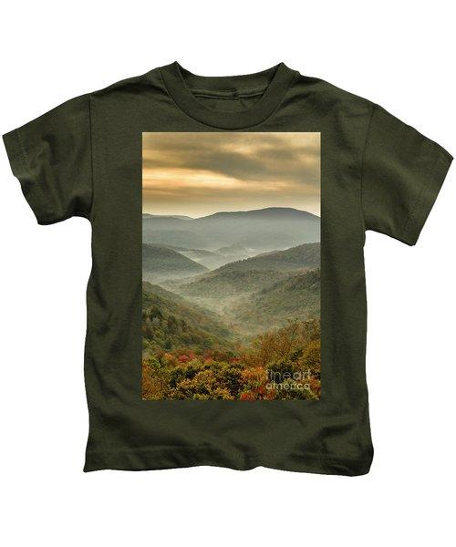 First Day Of Fall Highlands Kids T-Shirt