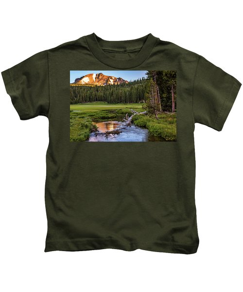 First Light On Lassen From Upper Meadow Kids T-Shirt