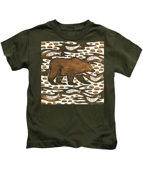 Fishing Bear Kids T-Shirt