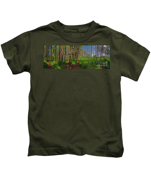Paths, Pines 360 Kids T-Shirt