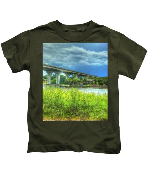 Flagler Beach Bridge Kids T-Shirt