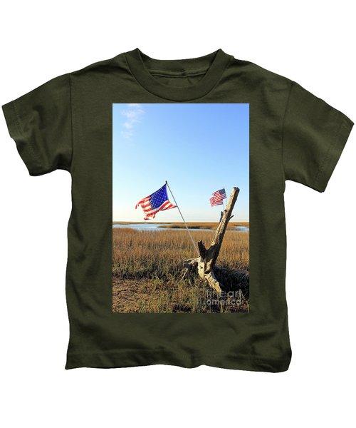 Flags Near Tybee Kids T-Shirt
