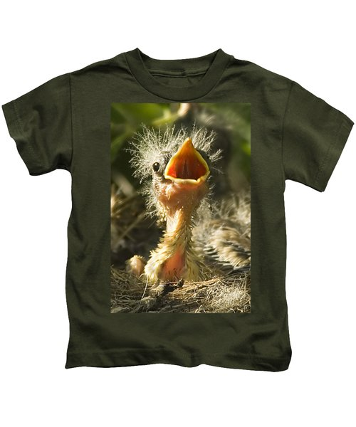 Fledgling Yellow Warbler Kids T-Shirt