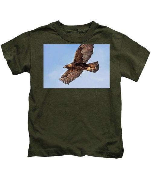 Flight Of The Golden Eagle Kids T-Shirt