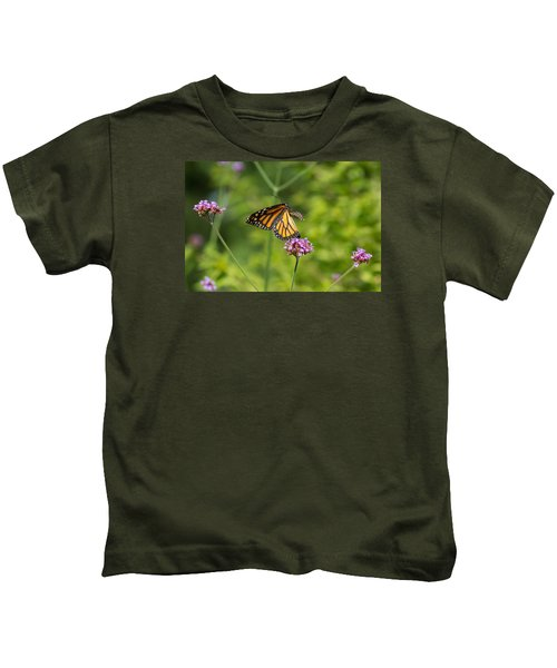 Flight Of The Monarch 1 Kids T-Shirt