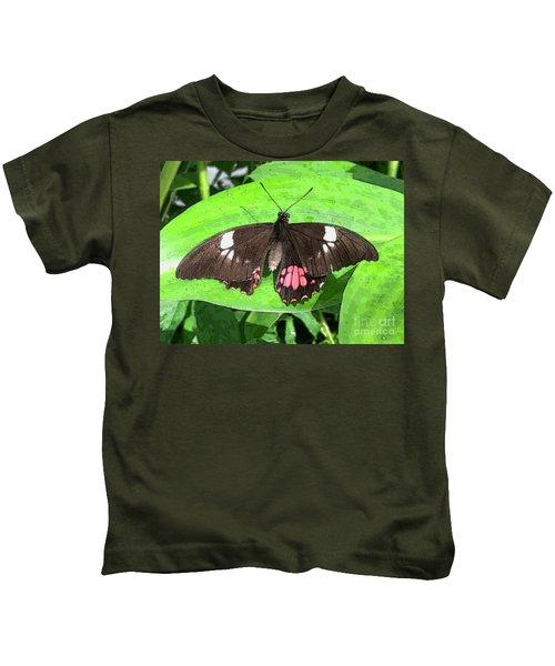 Flower Imprint On Wing Kids T-Shirt