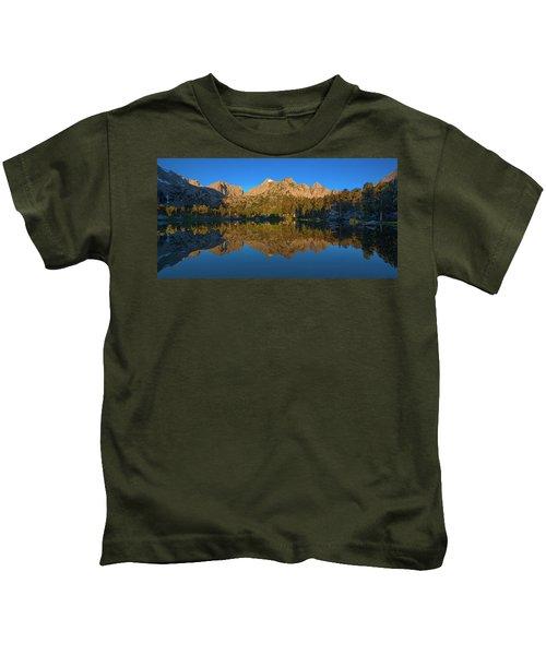 Flower Lake Panorama Kids T-Shirt