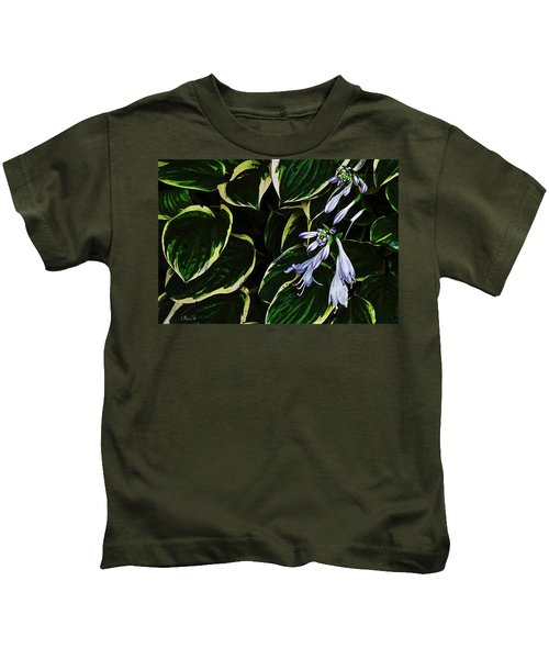 Flowering Hosta Kids T-Shirt