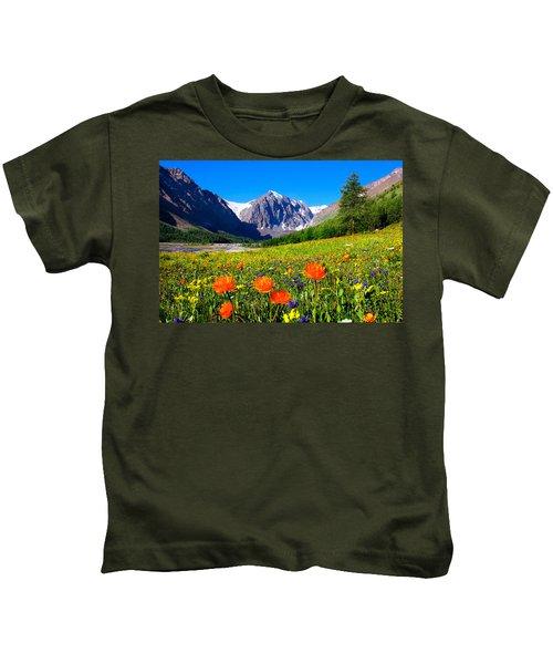 Flowering Valley. Mountain Karatash Kids T-Shirt