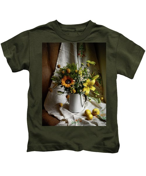 Flowers And Lemons Kids T-Shirt