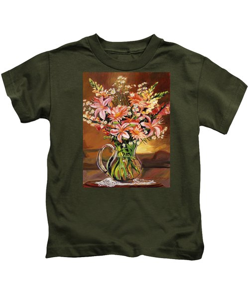 Flowers In Glass Kids T-Shirt