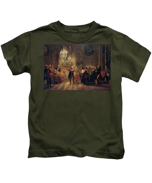 Flute Concert With Frederick The Great In Sanssouci Kids T-Shirt