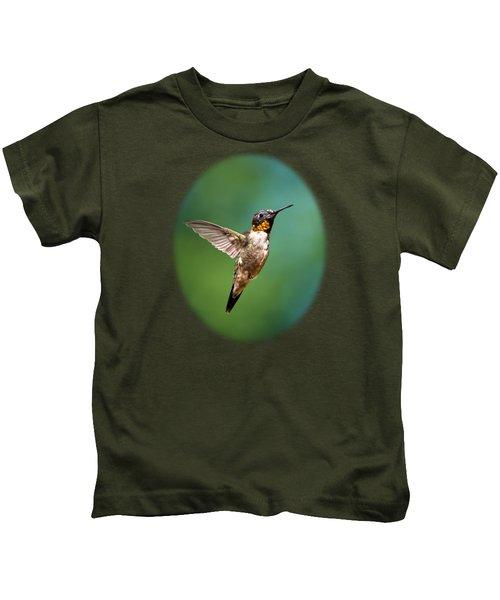 Flying Hummingbird Kids T-Shirt by Christina Rollo