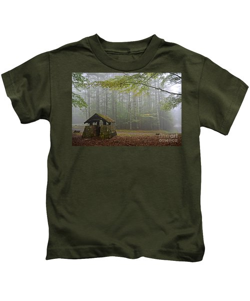 Foggy Morning At Droop Mountain Kids T-Shirt