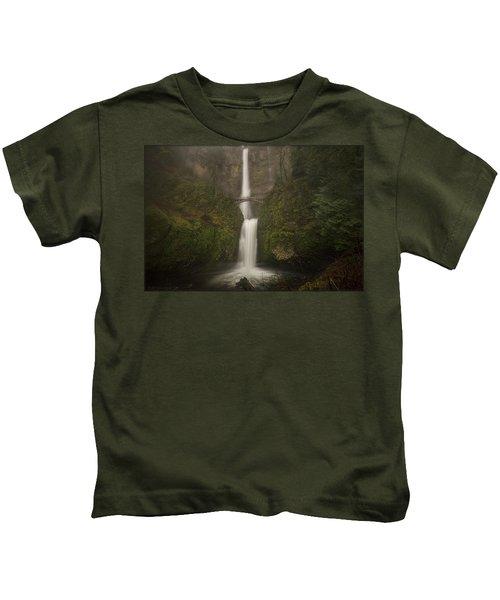 Foggy Multnomah Falls Kids T-Shirt