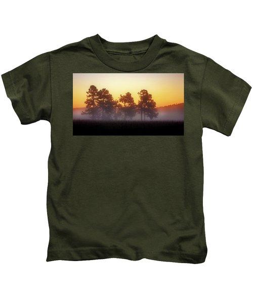 Foggy Ozark Morning  Kids T-Shirt