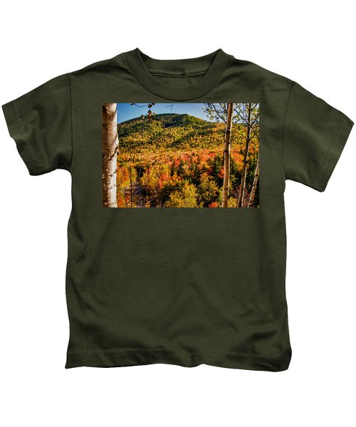 Foliage View From Crawford Notch Road Kids T-Shirt