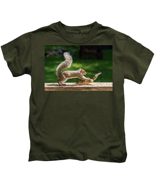 Food Fight Squirrel And Chipmunk Kids T-Shirt