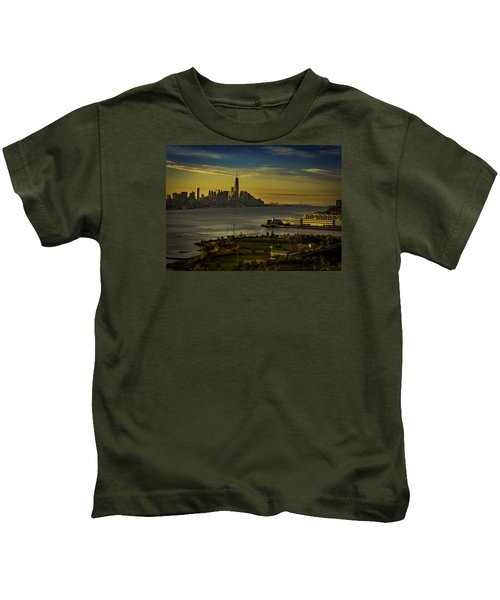 Football Field With A View Kids T-Shirt
