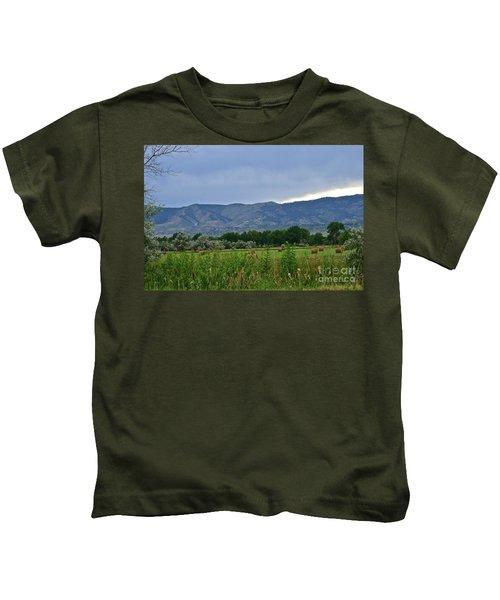 Foothills Of Fort Collins Kids T-Shirt